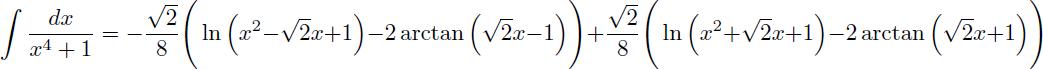 Intégration par décomposition en éléments simples